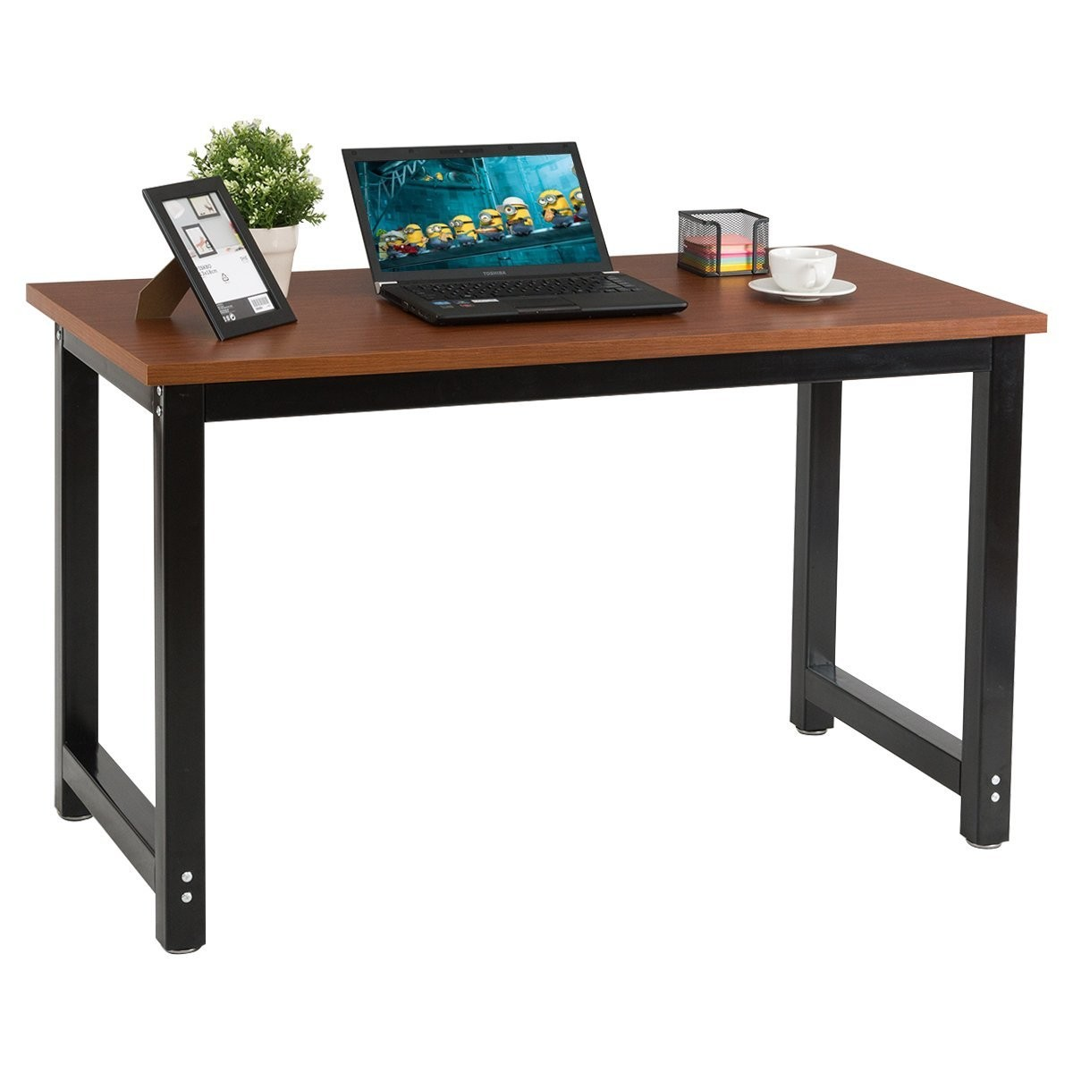 CHEFJOY Computer Desk PC Laptop Table Wood Workstation Study Home ...